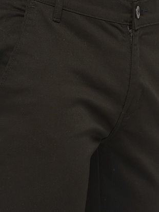 black cotton chinos casual trousers - 14457192 - Standard Image - 4