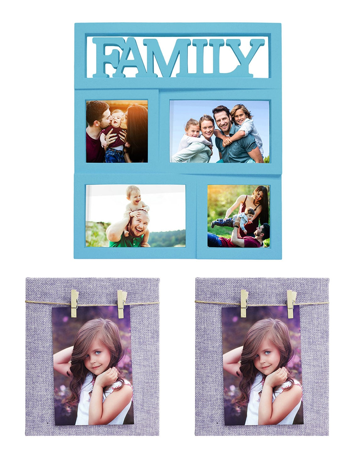 Pack of 3 Plastic Table Top & Wall hanging Frames