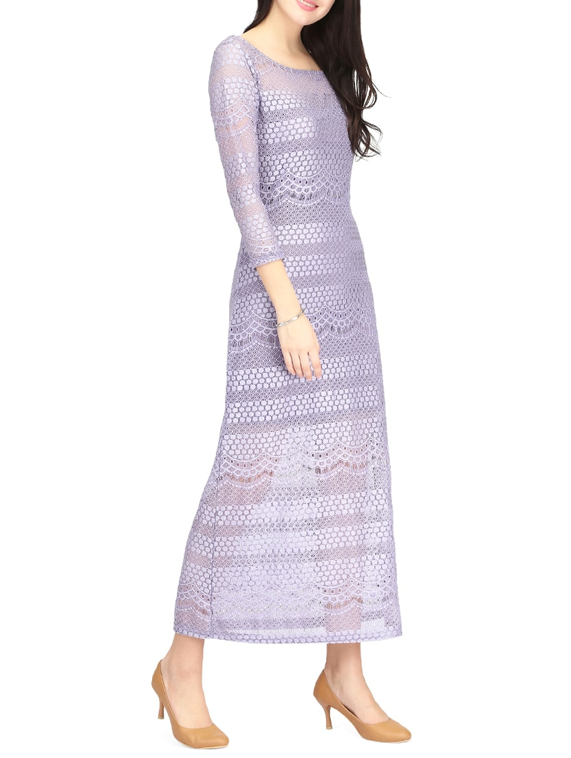 2ecd5299703d Buy Purple Lace Maxi Dress for Women from Eavan for ₹2045 at 11% off