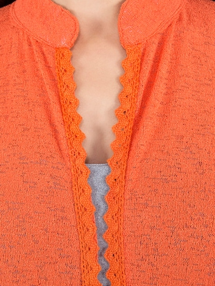 orange wool shrug - 14462682 - Standard Image - 4