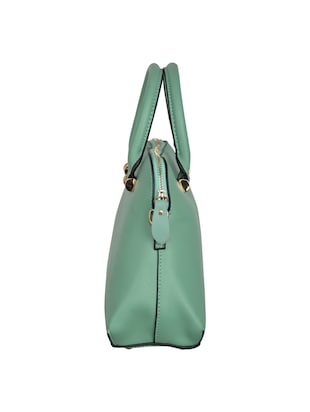 green leatherette regular handbag - 14464072 - Standard Image - 4