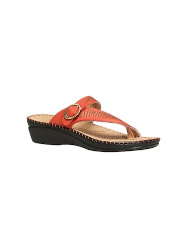 1e886aacfc7988 Buy Orange Synthetic Fur Flip Flops for Women from Dearfoams for ...