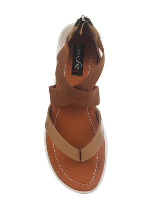 tan closed back sandal - 14465690 - Standard Image - 4