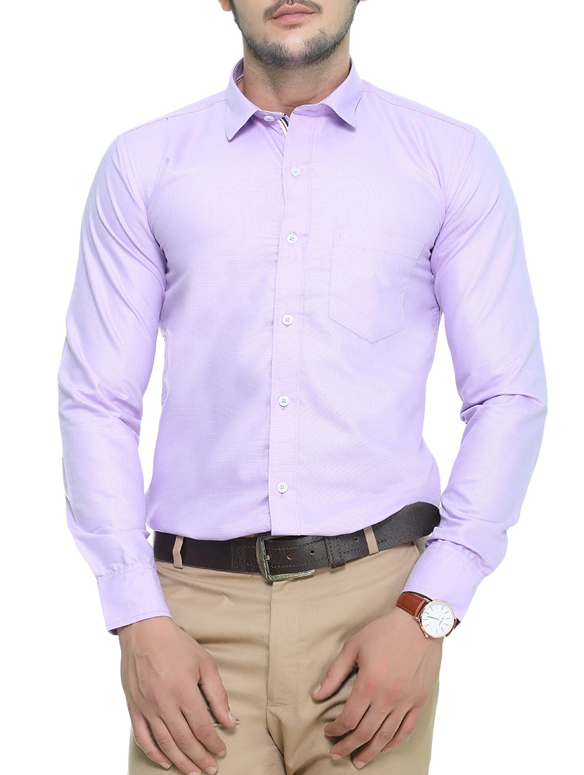 2bbc555b Buy Purple Cotton Formal Shirt for Men from Nimegh for ₹498 at 55% off |  2019 Limeroad.com