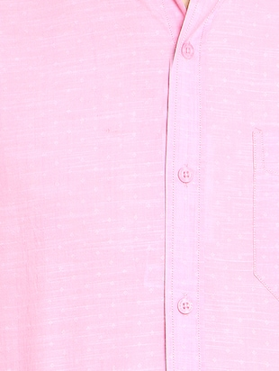 pink cotton blend casual shirt - 14467786 - Standard Image - 4