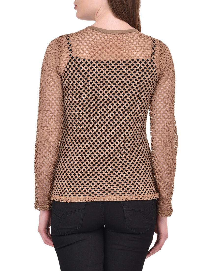 c73c1614d2a3c Buy Brown Net Top for Women from Ritu Designs for ₹699 at 53% off ...