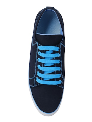 blue Canvas lace up sneaker - 14468397 - Standard Image - 4