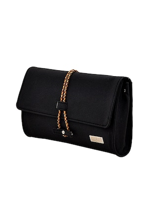 black leatherette regular clutch - 14469458 - Standard Image - 4