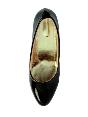 black polyester slip on pumps - 14469811 - Standard Image - 4
