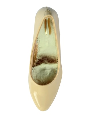 beige polyester slip on pumps - 14469813 - Standard Image - 4
