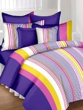 Striped Cotton Double Bed Sheet With 2 Pillow Covers -  online shopping for bed sheet sets