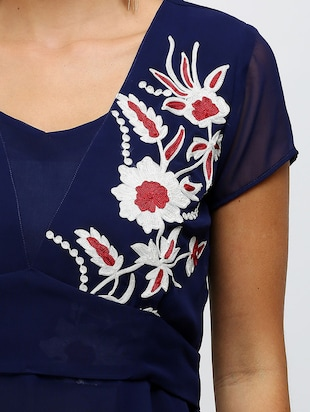 a-line embroidered dress - 14478505 - Standard Image - 4