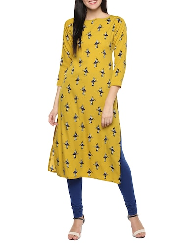 bb0f2485296 Yellow Kurta- Buy Long Kurtis for Women