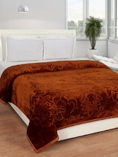 Embossed Double Bed Mink Blanket -  online shopping for Blankets