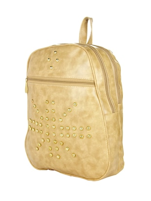 beige leatherette  backpack - 14481319 - Standard Image - 4