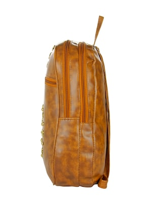 brown leatherette backpack - 14481327 - Standard Image - 4