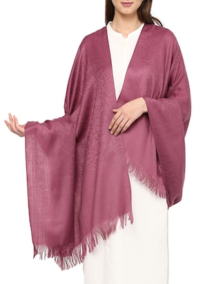 solid purple woolen shawl -  online shopping for shawls