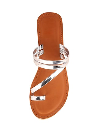 silver one toe sandal - 14482676 - Standard Image - 4