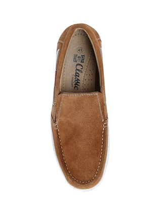 brown Suede casual slipon - 14483896 - Standard Image - 4