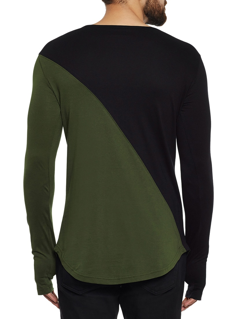 Buy Olive Green Cotton Color Bock T Shirt By Hypernation Online