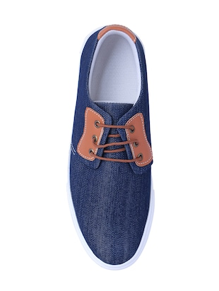 blue Denim lace up sneaker - 14486532 - Standard Image - 4