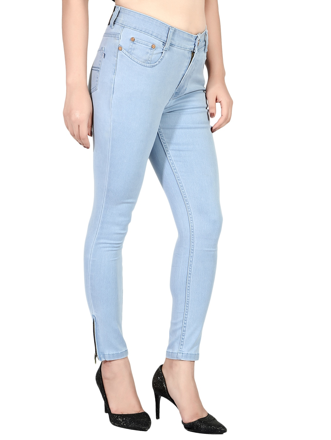 ac1791d7a8a Buy Light Blue Denim Jean by Fck-3 - Online shopping for Jeans in India