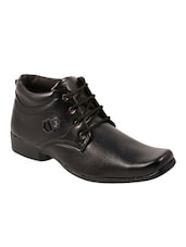 black leather laceup derbies -  online shopping for Derbies