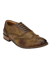 brown leatherette formal brouge -  online shopping for Brouges