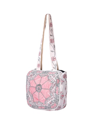 white cotton regular handbag - 14497288 - Standard Image - 4