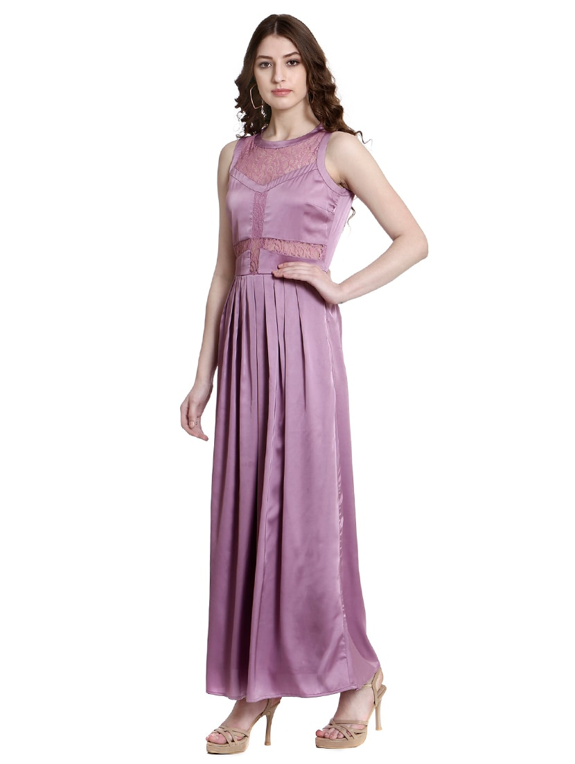 5783044b Buy Purple Solid Gown Dress for Women from Colormode for ₹3498 at 50% off |  2019 Limeroad.com
