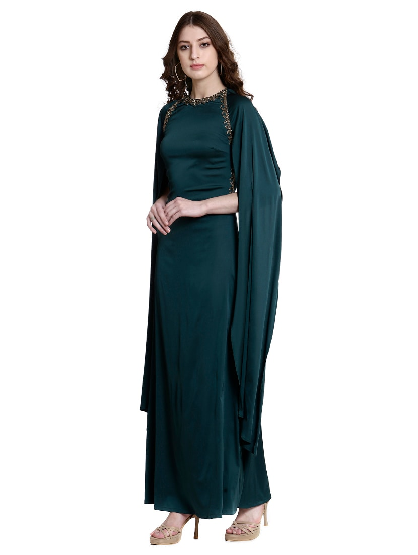 c194eeee Buy Green Embellished Gown Dress for Women from Colormode for ₹4588 at 49%  off | 2019 Limeroad.com