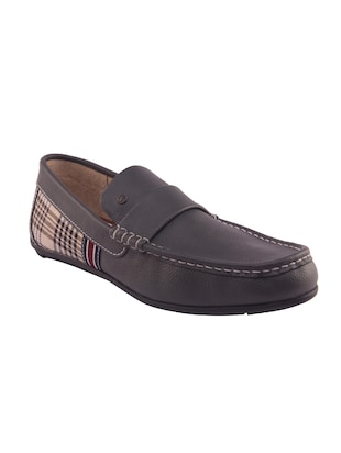 grey Leather slip on loafer -  online shopping for Loafers
