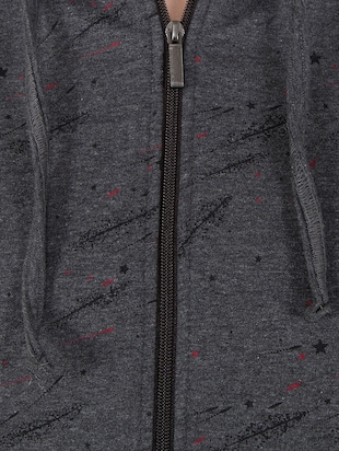 grey hooded sweatshirt - 14501281 - Standard Image - 4