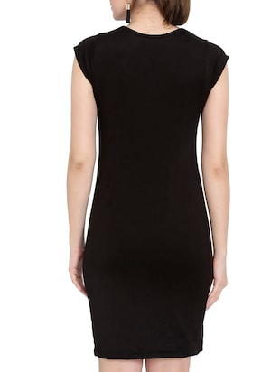 solid black sheath dress - 14501662 - Standard Image - 4