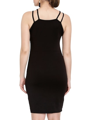 solid black bodycon dress - 14501664 - Standard Image - 4