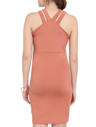 Pink Colored Bodycon Dress - 14501667 - Standard Image - 4