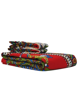 152 TC Pure Cotton Traditional Rajasthani Printed Double Bed Sheet With 2 Pillow Covers - 14502825 - Standard Image - 4
