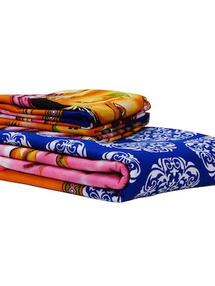 152 TC Pure Cotton Traditional Rajasthani Printed Double Bed Sheet With 2 Pillow Covers - 14502826 - Standard Image - 4
