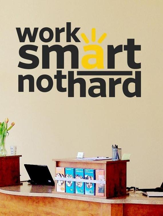 buy creatick studio work smart quote office wall sticker standard