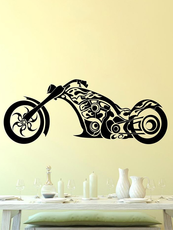buy creatick studio bullet vintage bike wall sticker standard size