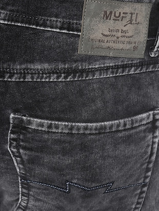 black cotton washed jeans - 14504558 - Standard Image - 4
