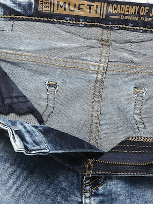blue cotton washed jeans - 14504624 - Standard Image - 4