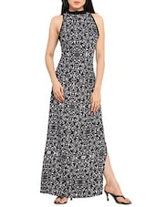 black printed maxi dress -  online shopping for Dresses