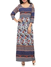 multi colored maxi dress -  online shopping for Dresses