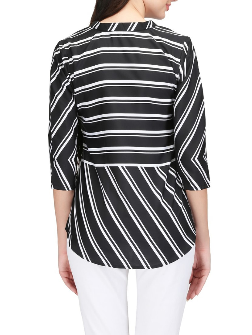 47b4bca42 Buy Striped Rounded Hem Top for Women from Karmic Vision for ₹464 at 54%  off | 2019 Limeroad.com