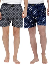 multi colored cotton boxers (Set Of 2) -  online shopping for Boxers