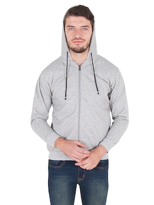 grey cotton sweatshirt - 14510083 - Standard Image - 4