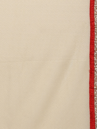 beige half and half saree with blouse - 14512205 - Standard Image - 4
