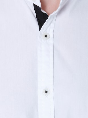 white cotton casual shirt - 14514091 - Standard Image - 4