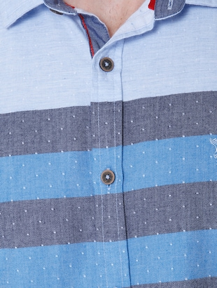 blue cotton casual shirt - 14514093 - Standard Image - 4